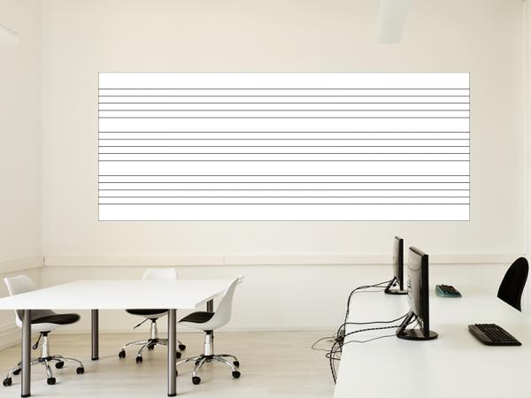 Magnetische Whiteboardfolie Notenlinien