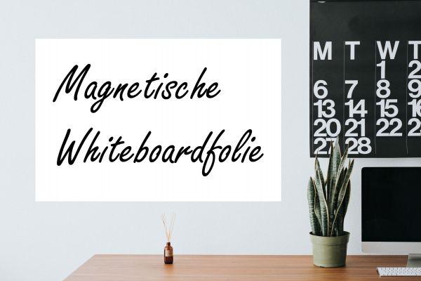 Magnetische Whiteboardfolie weiß | selbstklebend | für Magnete
