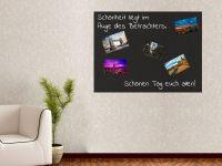 80 x 60 cm | Selbstklebende magnetische Tafelfolie | Kreide und Kreidestift | schwarz
