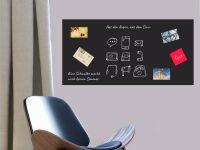 160 x 80 cm | Selbstklebende magnetische Tafelfolie | Kreide und Kreidestift | schwarz