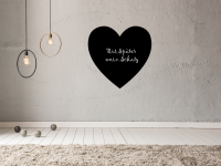 Romantische Tafelfolie Herz | Kreidefolie