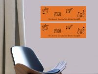60 x 20 cm (2 Stk) | Beschreibbare, selbstklebende, bunte, Farbfolie orange Vorschau