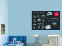 120 x 80 cm | Selbstklebende magnetische Tafelfolie | Kreide und Kreidestift | schwarz